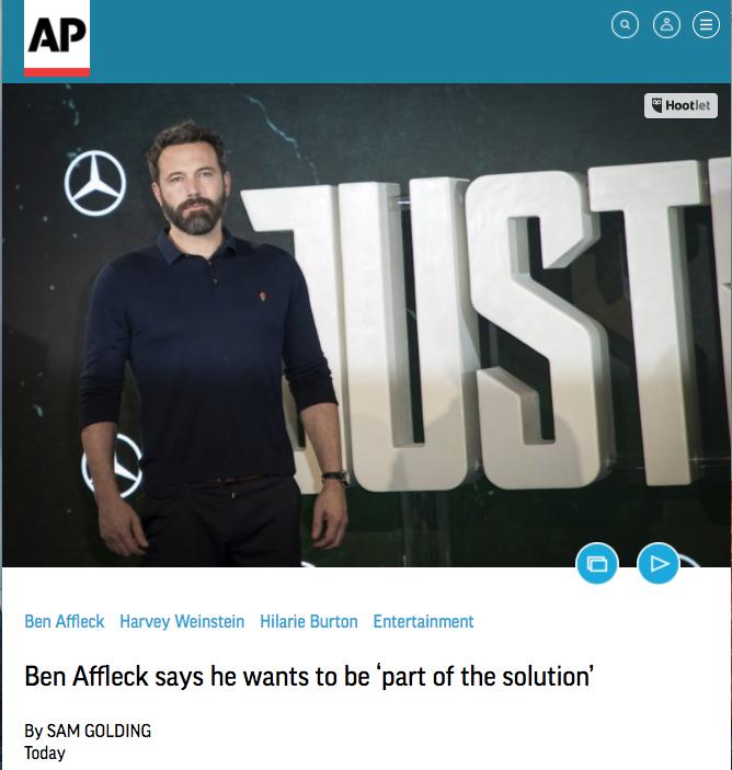 Revue de Presse Ben Affleck